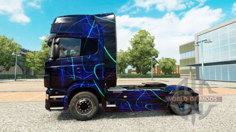 La piel de Humo Azul en el tractor Scania para Euro Truck Simulator 2