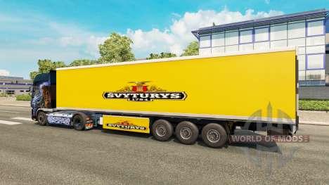 La piel Svyturys en el remolque para Euro Truck Simulator 2