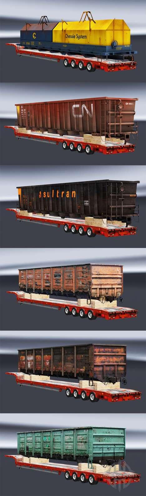 Semi zeleznodoroznyj con composiciones v1.1 para Euro Truck Simulator 2