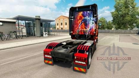 El fuego de Niña de piel para Scania camión para Euro Truck Simulator 2