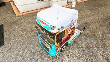 La piel de los Coches v2.0 camión DAF para Euro Truck Simulator 2