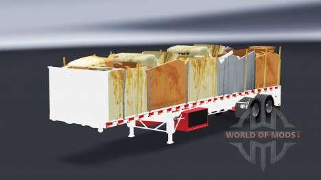 Una colección de semi-plataformas para American Truck Simulator