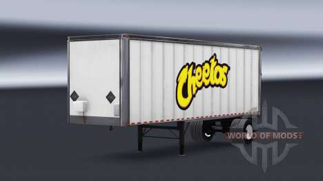 De metal semi-Cheetos para American Truck Simulator