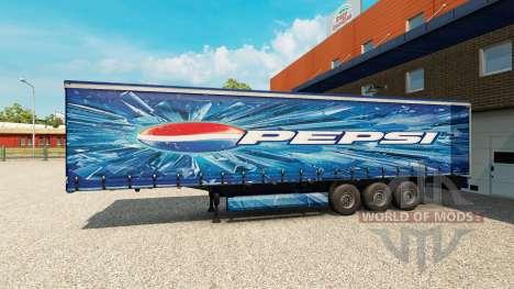 Pepsi piel para el remolque para Euro Truck Simulator 2