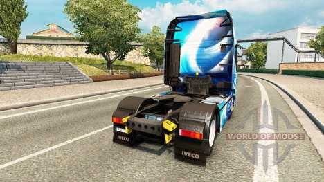 La piel Azul Abstracto Iveco para el camión para Euro Truck Simulator 2