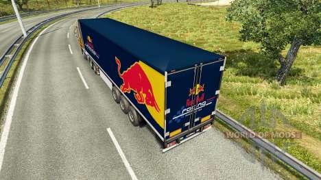 La piel de Red Bull en el remolque para Euro Truck Simulator 2