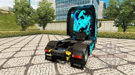 La piel de Humo Verde en el tractor Iveco para Euro Truck Simulator 2