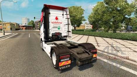 Vodafone piel de Carreras de camiones Volvo para Euro Truck Simulator 2