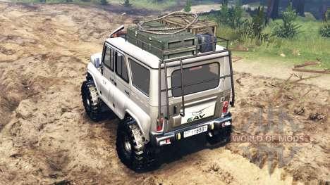 UAZ-315195 hunter para Spin Tires