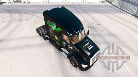 La piel Kawasaki Racing Team en un Kenworth trac para American Truck Simulator