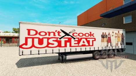 La piel Sólo Comer en el remolque para Euro Truck Simulator 2
