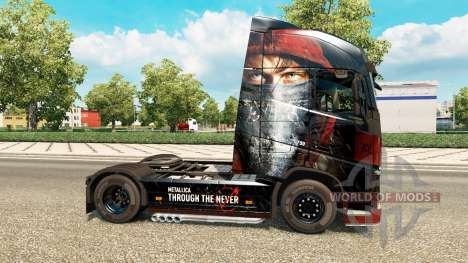 La piel de Metallica para Volvo trucks para Euro Truck Simulator 2