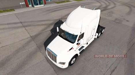 De la piel al Amanecer y camiones Peterbilt Kenw para American Truck Simulator
