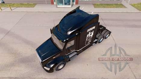 La piel de Elvis Presley en el tractor Peterbilt para American Truck Simulator