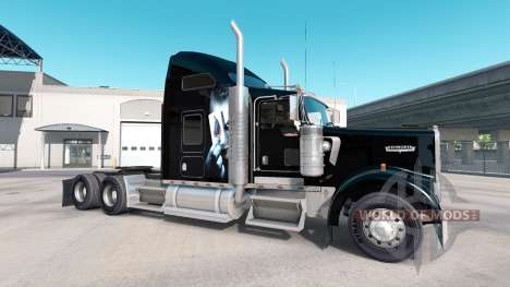 Bromista de la piel para el Kenworth W900 tracto para American Truck Simulator