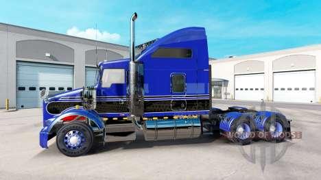 La piel Azul-negro en el camión Kenworth T800 para American Truck Simulator
