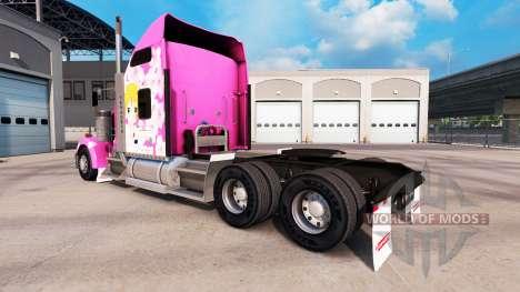 Sakura piel para el Kenworth W900 tractor para American Truck Simulator