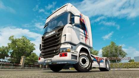 Una piel de Superman para Scania camión para Euro Truck Simulator 2