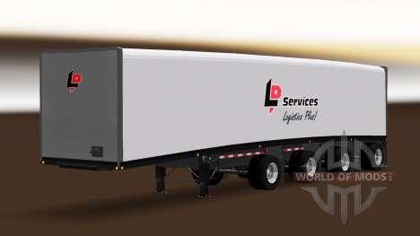 Remolque Mac Cortina Multiaxles para American Truck Simulator