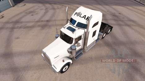 La piel en empresas Polar camión Kenworth W900 para American Truck Simulator
