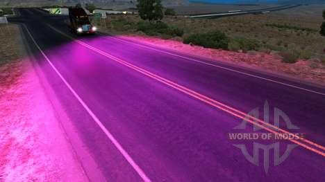 Púrpura xenons para American Truck Simulator