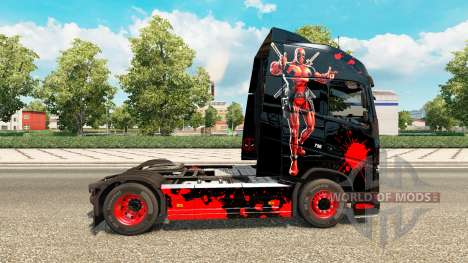 DeadPool piel para camiones Volvo para Euro Truck Simulator 2