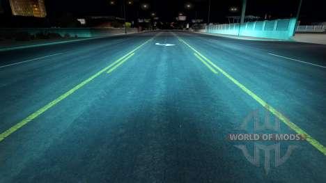 Aquamarine xenón para American Truck Simulator