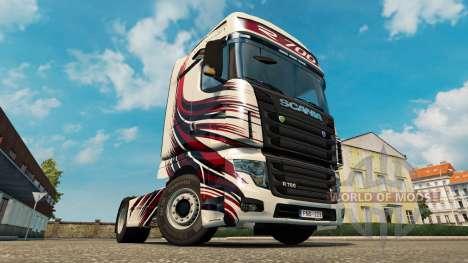 MT Diseño de la piel para Scania camión R700 para Euro Truck Simulator 2
