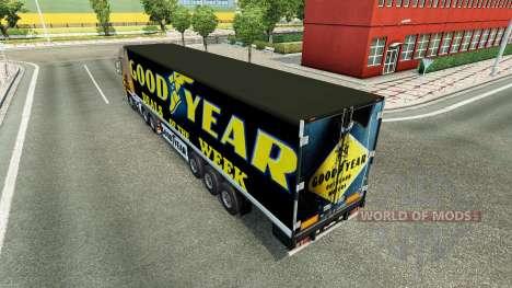 La piel de Goodyear en el remolque para Euro Truck Simulator 2