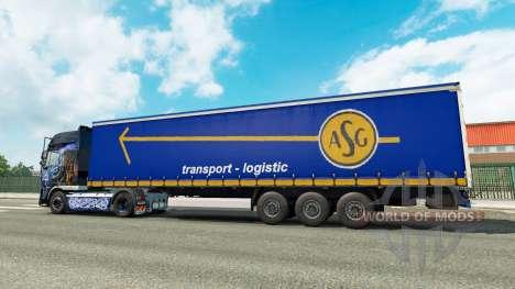 La piel ASG en el remolque para Euro Truck Simulator 2