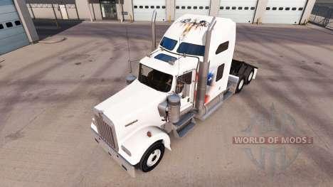 La piel Independiente en el camión Kenworth W900 para American Truck Simulator