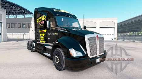 Rockstar Energy piel para el Kenworth tractor para American Truck Simulator