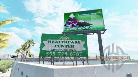 La publicidad en vallas publicitarias para American Truck Simulator