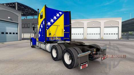 La piel Bosnia en el camión Freightliner Classic para American Truck Simulator