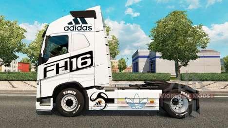 La piel de Adidas para camiones Volvo para Euro Truck Simulator 2
