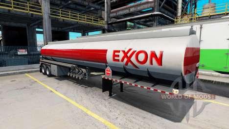 Logotipos de empresas de combustibles en los rem para American Truck Simulator