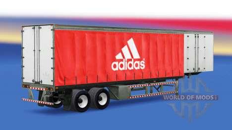 La piel de Adidas en el remolque para American Truck Simulator
