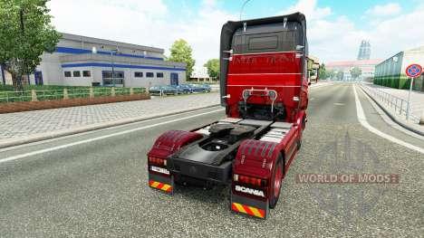 La piel Inter-Trans en el tractor Scania para Euro Truck Simulator 2