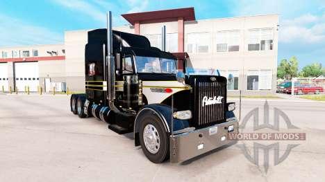 La piel de Plata-negro para el camión Peterbilt  para American Truck Simulator