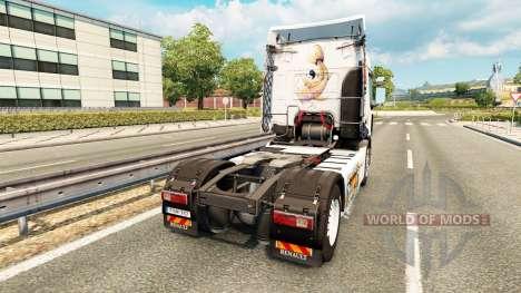La piel Koi para tractor Renault para Euro Truck Simulator 2