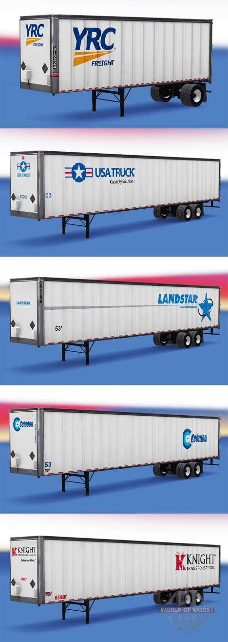 Los logos de las empresas reales en el trailer para American Truck Simulator