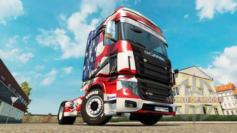 La piel de estados UNIDOS en el tractor Scania R para Euro Truck Simulator 2