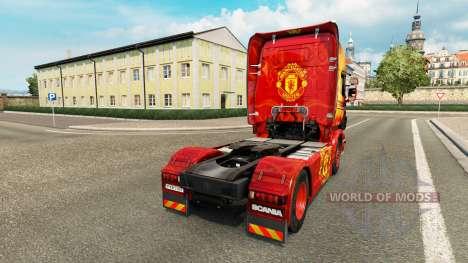La piel del Manchester United para tractor Scani para Euro Truck Simulator 2