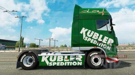 Kubler Spedition de la piel para DAF camión para Euro Truck Simulator 2