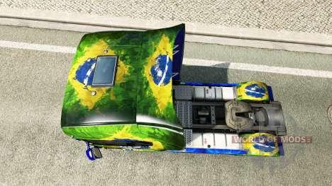 Brasil piel para Scania camión para Euro Truck Simulator 2