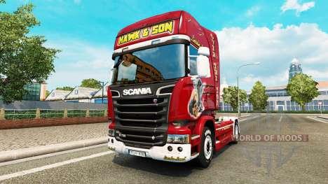La piel Hawk Edición tractor Scania para Euro Truck Simulator 2