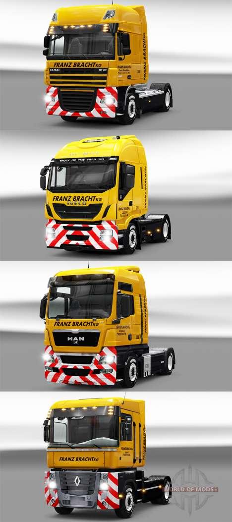 Franz Bracht skin on tractors para Euro Truck Simulator 2