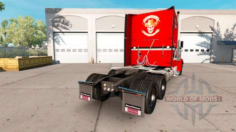 La piel Metálica del camión Freightliner Classic para American Truck Simulator