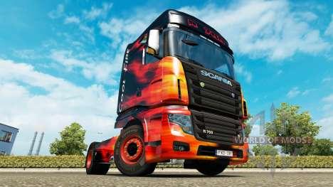 La piel de Fuego Frío camión Scania R700 para Euro Truck Simulator 2