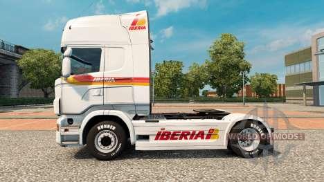 Iberia piel para Scania camión para Euro Truck Simulator 2